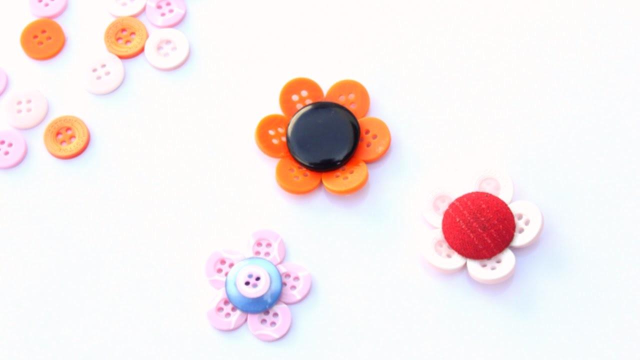 Bunte Knopfblumen Basteln - DIY Crafts - Guidecentral