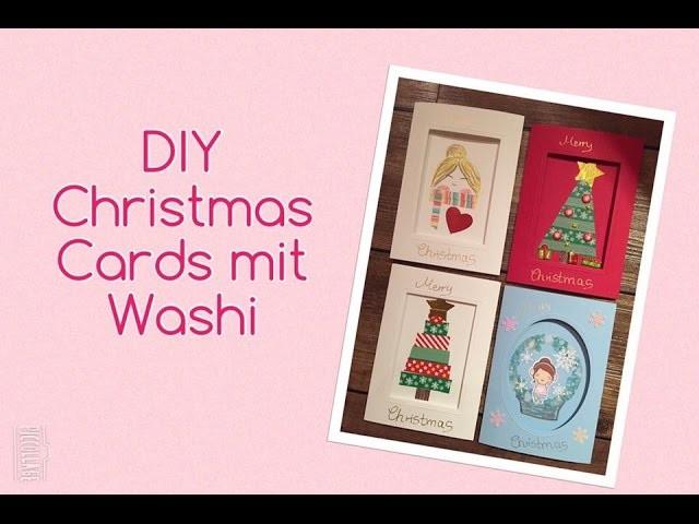 Filofax DIY Weihnachts Special: Weihnachtskarten mit Washi | Christmas Cards | filolove_