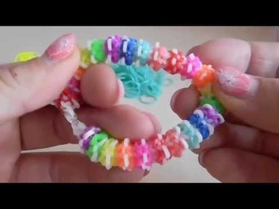 Gumdrop Bracelet Rainbow Loom Band Deutsch DIY