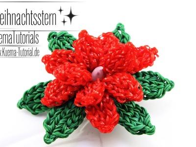 Rainbow Loom - dekorativer Weihnachtsstern. poinsettia