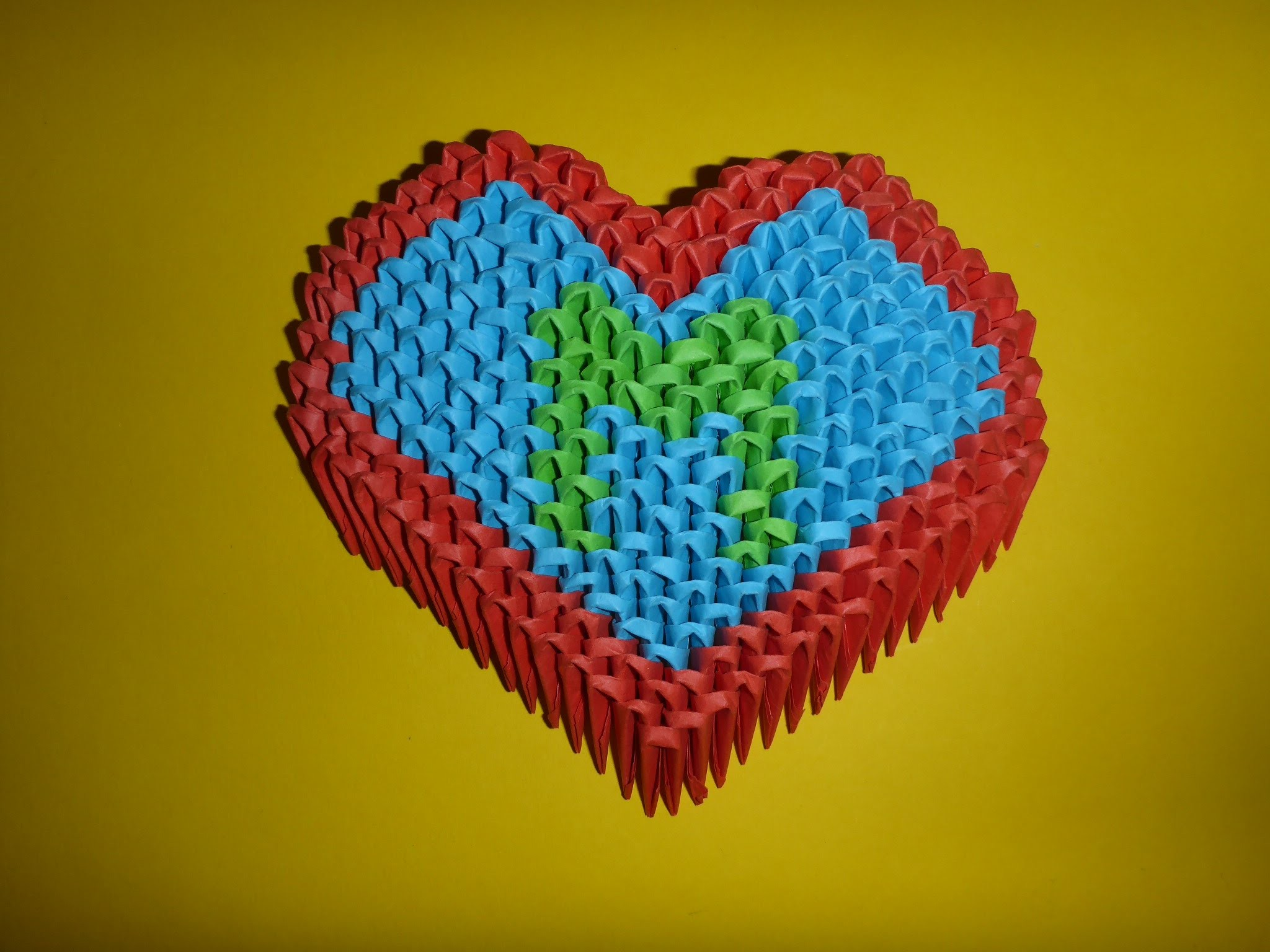 DIY 3D ORIGAMI IDEEN Herz, Geschenk zum Muttertag, Moter´s day Gift Ideas Heart Tutorial