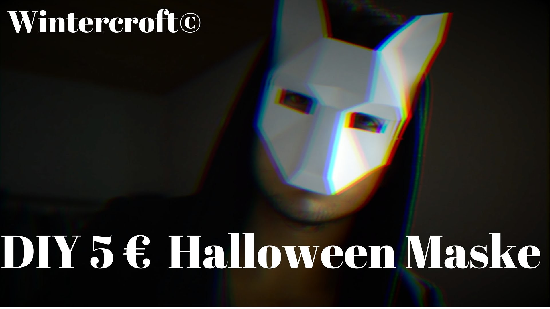 DIY 5 € Last Minute Halloween Maske | wintercroft