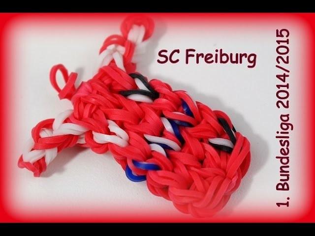 SC Freiburg Trikot 2014.2015 Rainbow Loom Bands Fußball 1. Bundesliga (Anleitung deutsch)