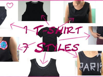 DIY Fashion - 1 T-Shirt - 7 Styles - Mode Tipps - crop top. tank top. 7 ways to upcycle t-shirts