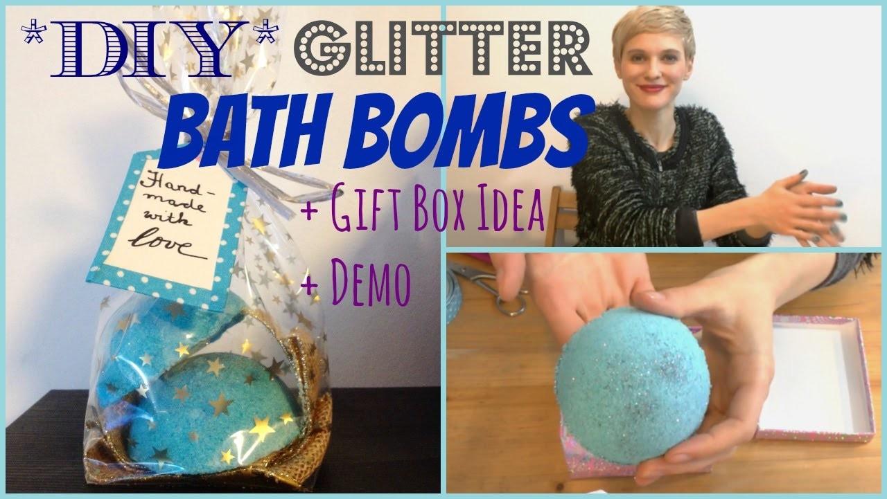 DIY -  GLITTER BATH BOMBS + GIFT BOX IDEA + DEMO