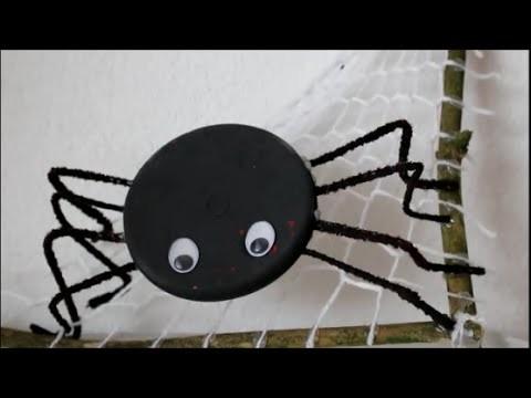 DIY: Halloween Special: Spinne auf Netz. Gruselige Dekoration basteln