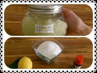 Duftende DIY Geschenkidee: Lemon Sugar Scrub - Zitronen-Zucker-Peeling