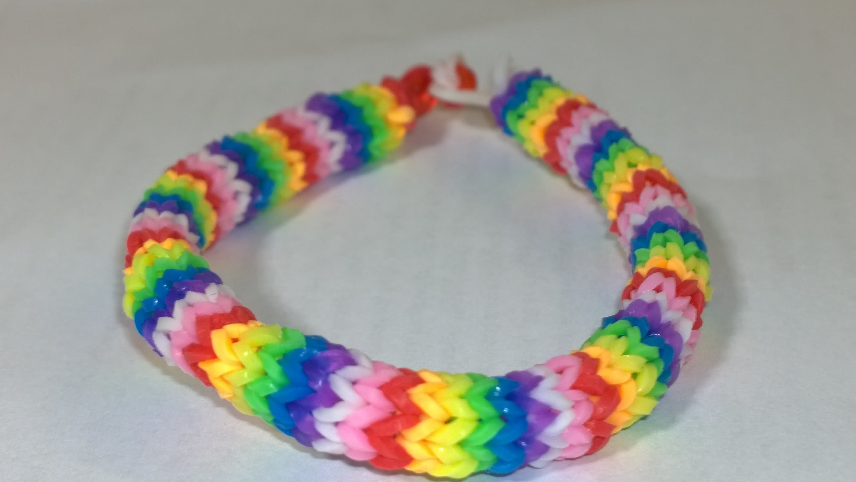 How To Make Super Easy Rainbow Loom Hexafish 6- pin Fishtail Bracelet with Two Forks! DIY