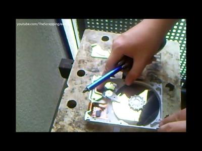 Festplatte öffnen und Magnete ausbauen