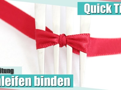 [Quick Tipp] Schleifen binden. How to tie a bow | Anielas Fimo