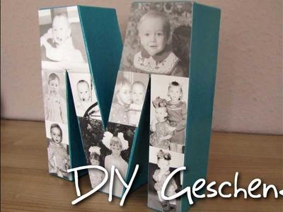 DIY Geschenk Buchstaben-Bilderrahmen