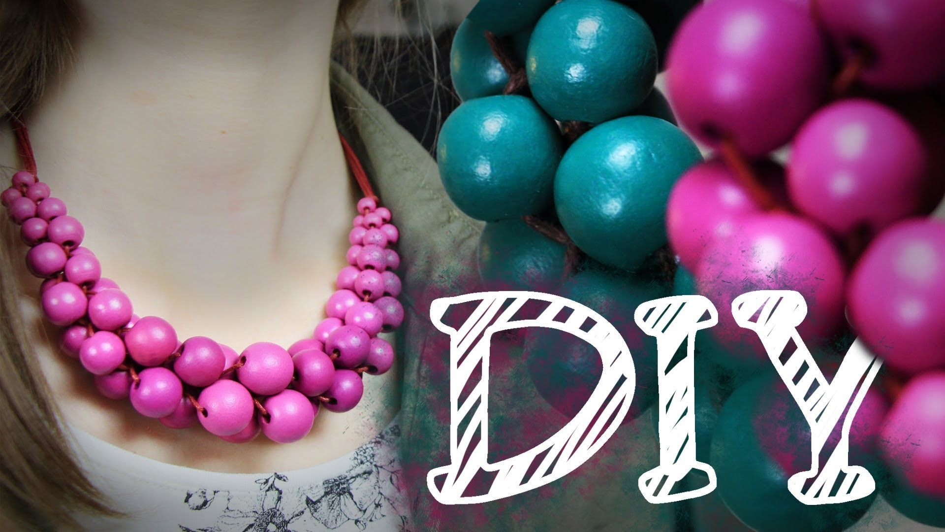 Klimbim Drumrum - DIY Statement Kette aus großen Perlen by alive4fashion