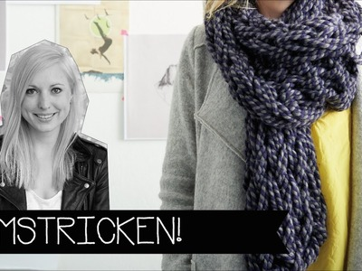 Stricken & Häkeln nur mit deinem Arm! | Wolle | Chunky knitting | KINNERTIED | #22