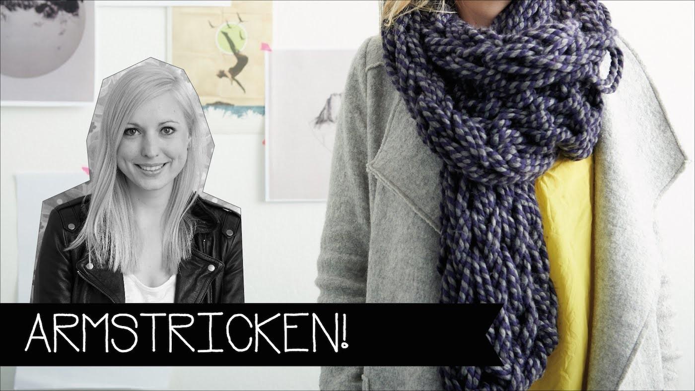 Stricken & Häkeln nur mit deinem Arm!   Wolle   Chunky knitting   KINNERTIED   #22