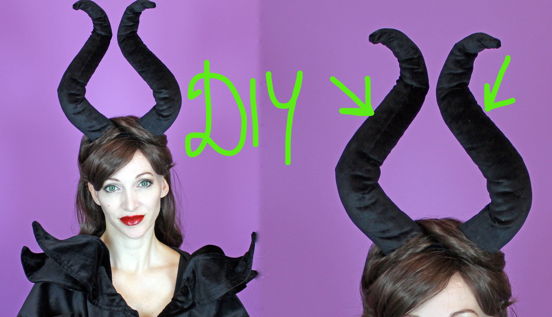 DIY Maleficent Hörner, 2 Variationen - Halloween 2015 #2