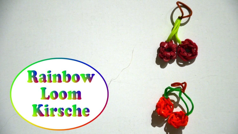 Rainbow Loom Kirsche aus 2 Mini Blumen (deutsche Anleitung)