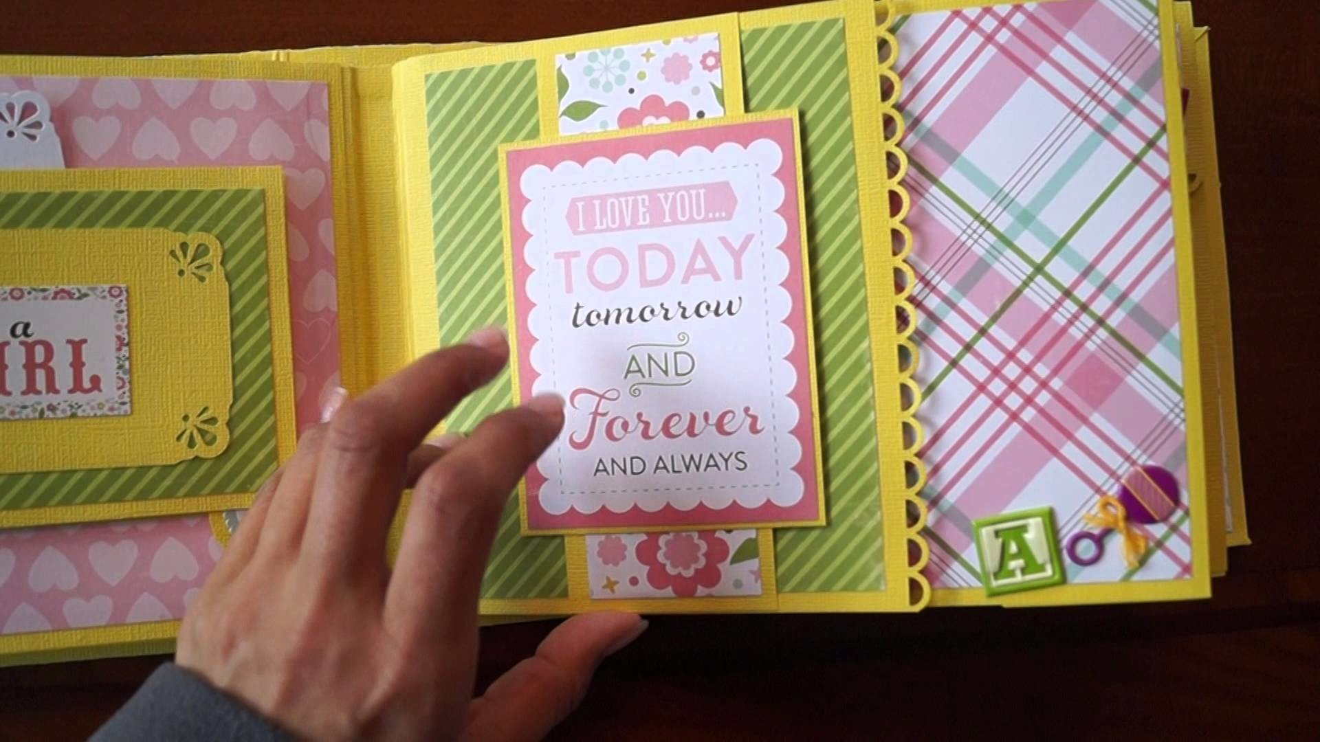 Scrapbook Mini Album Echo Park - Bundle Of Joy (with subtitle EN)