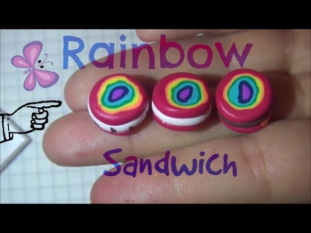 FIMO Rainbow Sandwich Tutorial