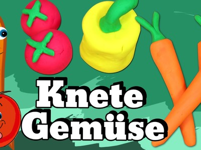 German DIY Einfach: How To Play Doh Vegetables | Lernen Knete Gemüse Deutsch