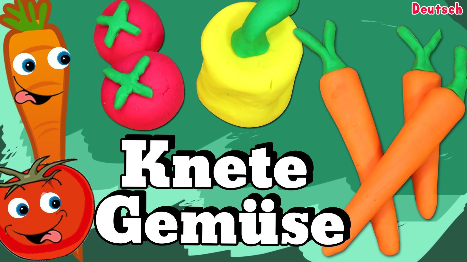 German DIY Einfach: How To Play Doh Vegetables | Lernen Knete Gemüse Deutsch