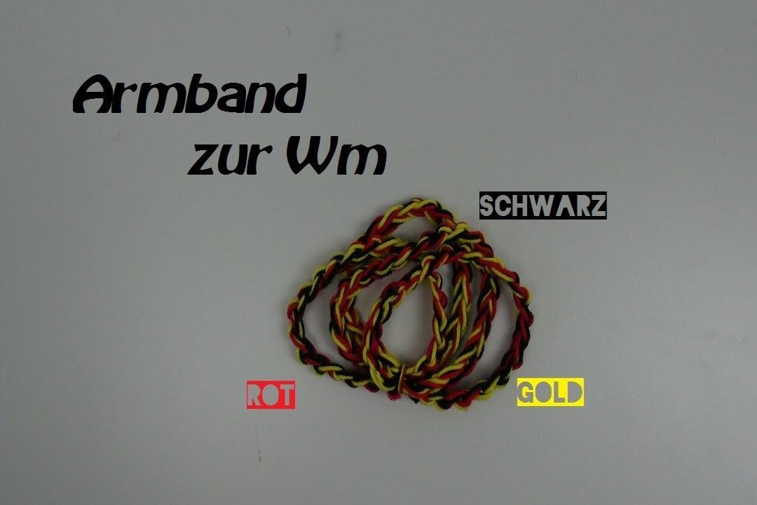 Häkeln Armband - dreifarbig - SIMPLE