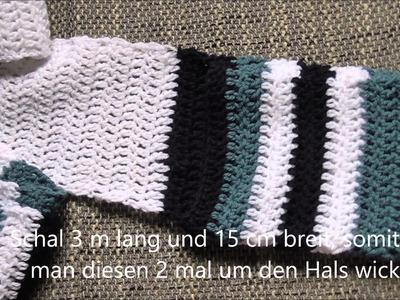 Häkeln - Mütze und Schal mit integrierten Handschuhen