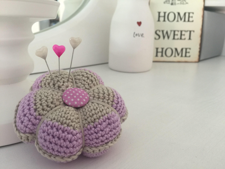 Häkeln: Nadelkissen klassisch - Crochet: Pin cushion classic