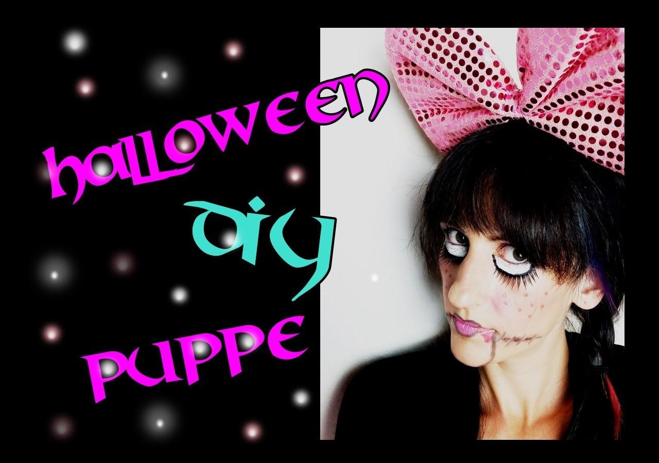 Halloween DIY 1. Make up Puppe. DestinyDiamond