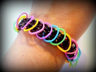 Loom Bands mit Loom deutsch - Kunterbuntes Armband.Bracelet (deutsche Anleitung)