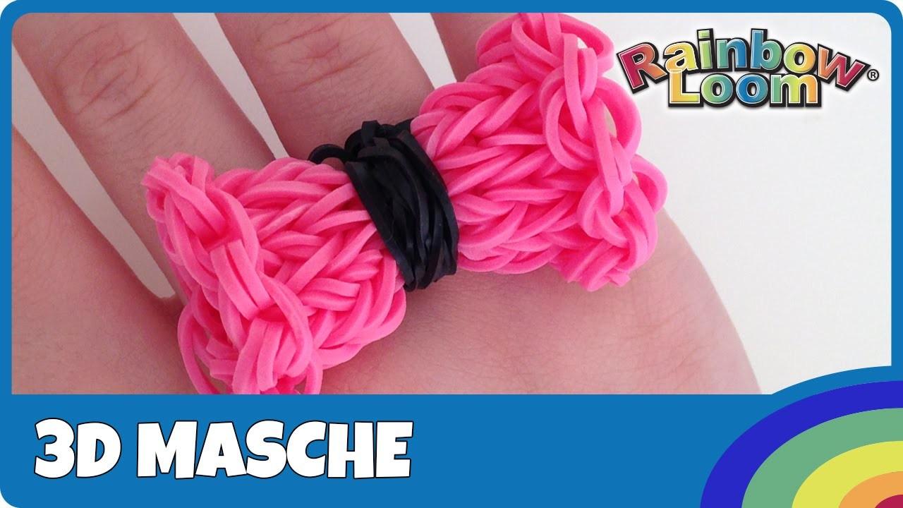 Rainbow Loom 3D Schleife (Masche) - deutsche Anleitung