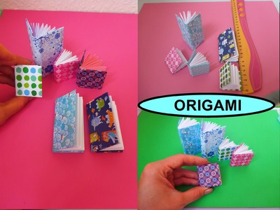 DIY Origami Notizbuch SCHNELL und EINFACH falten, Mini Modular Book easy Tutorial, Оригами книжка