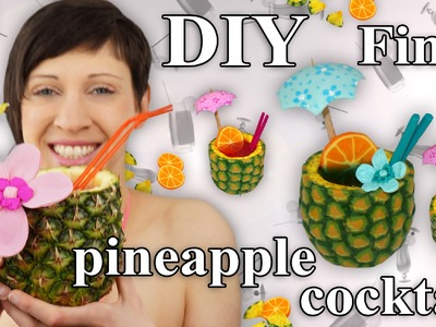 FIMO Ananas: Polymer Pineapple Cocktail - Tutorial [HD.DE] (EN-Sub)