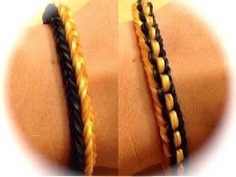 Rainbow Loom Doppel Knoten Armband deutsche Anleitung