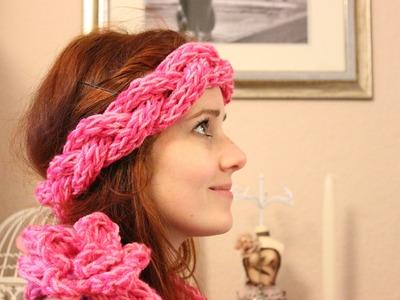 ♥DIY♥ Ein Stirnband mit den Fingern stricken