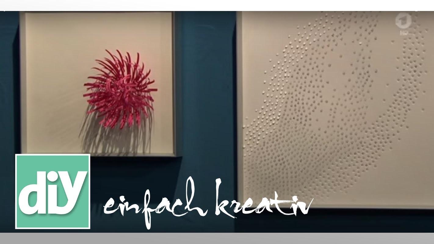 Papierblumen für die Wand   DIY einfach kreativ