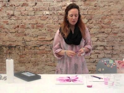 Acrylmalen in Mischtechnik mit flüssigen Farben UND Aquarellstiften by zAcheR-fineT