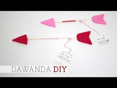 DaWanda DIY: Liebesbotschaft mit Pfeil zum Valentinstag