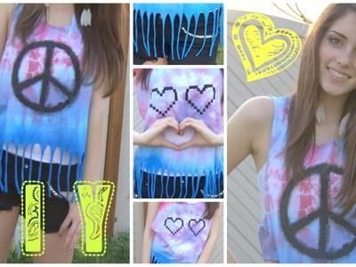 DIY T-shirt UPCYCLING (dip-Dye)