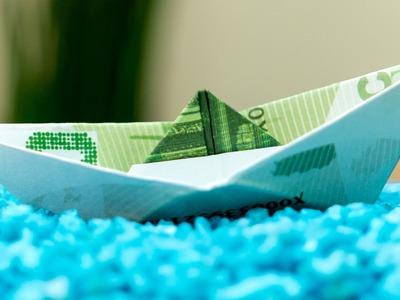 Geldschein falten Schiff