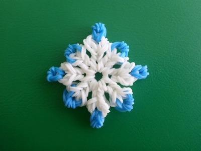 Schneeflocke Eiskristall Snowflake Weihnachten Loom Bands Weihnachtsdeko Anleitung