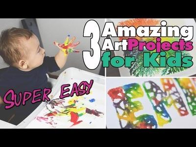 3 einfache Kunstprojekte für Kinder | Easy Art 4 kids | DIY | mamiblock - Der Mami Blog