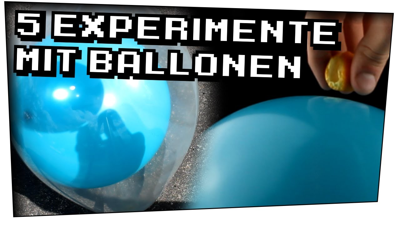 5 Experimente mit Ballonen - Heimexperimente #45