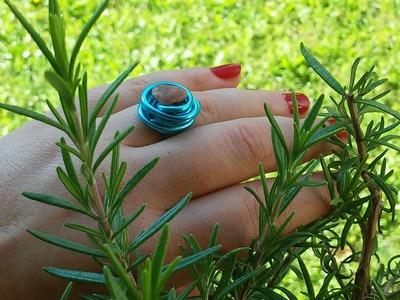 DIY Ring aus Draht mit Stein