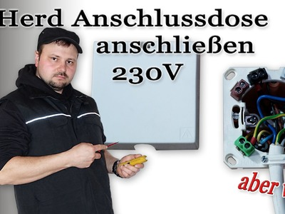 Herdanschlussdose 230 Volt anschließen (3 Kabel.Adern) von M1Molter