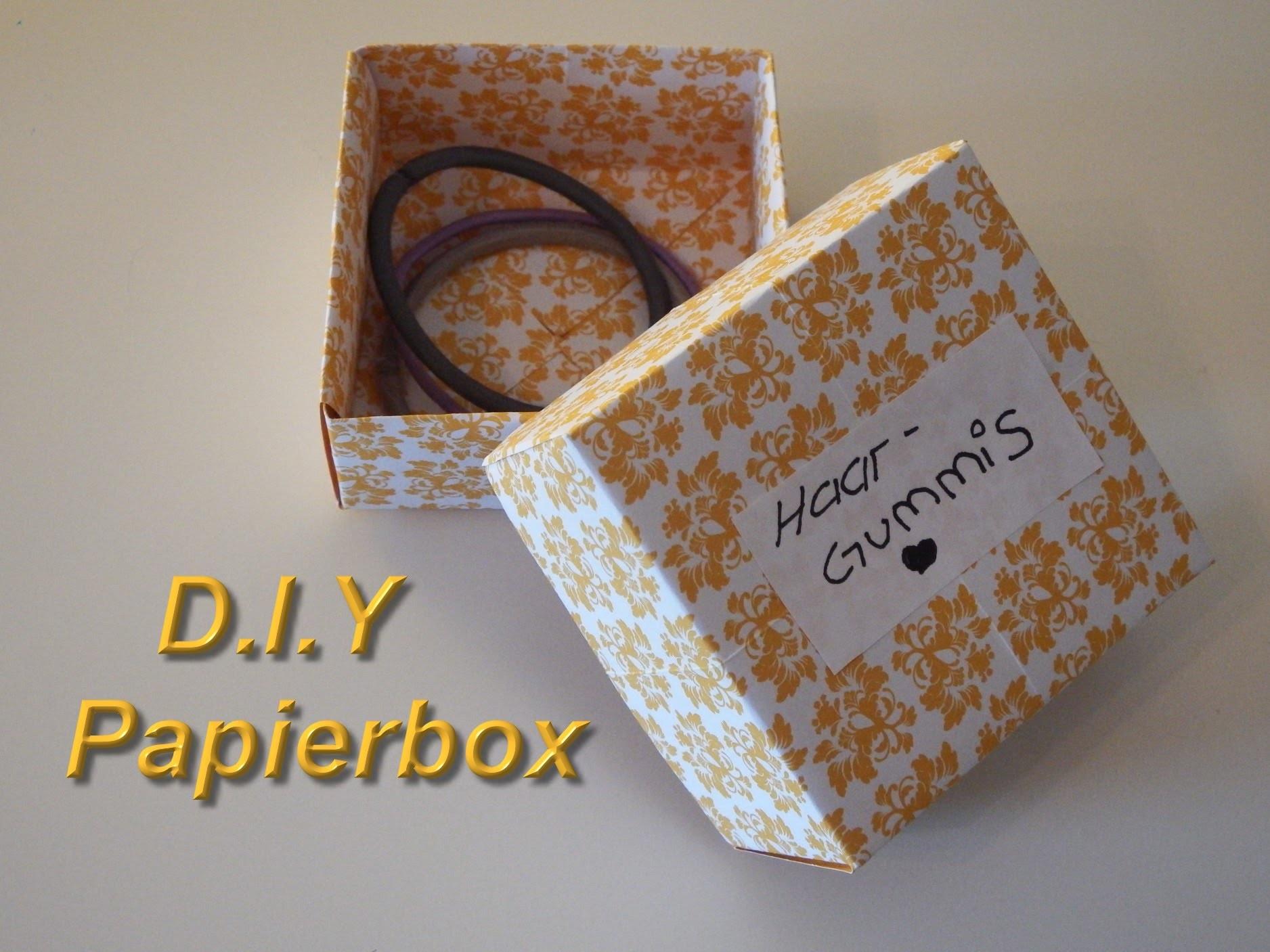 *** D.I.Y. Papierbox Bastel. Make a Paper-Box - mit Tini ***