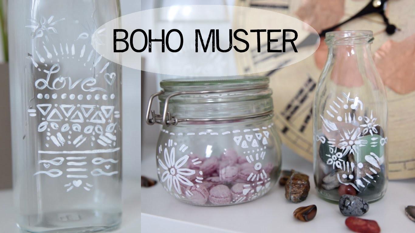 DIY Deko Gläser - Boho Muster - kekulo