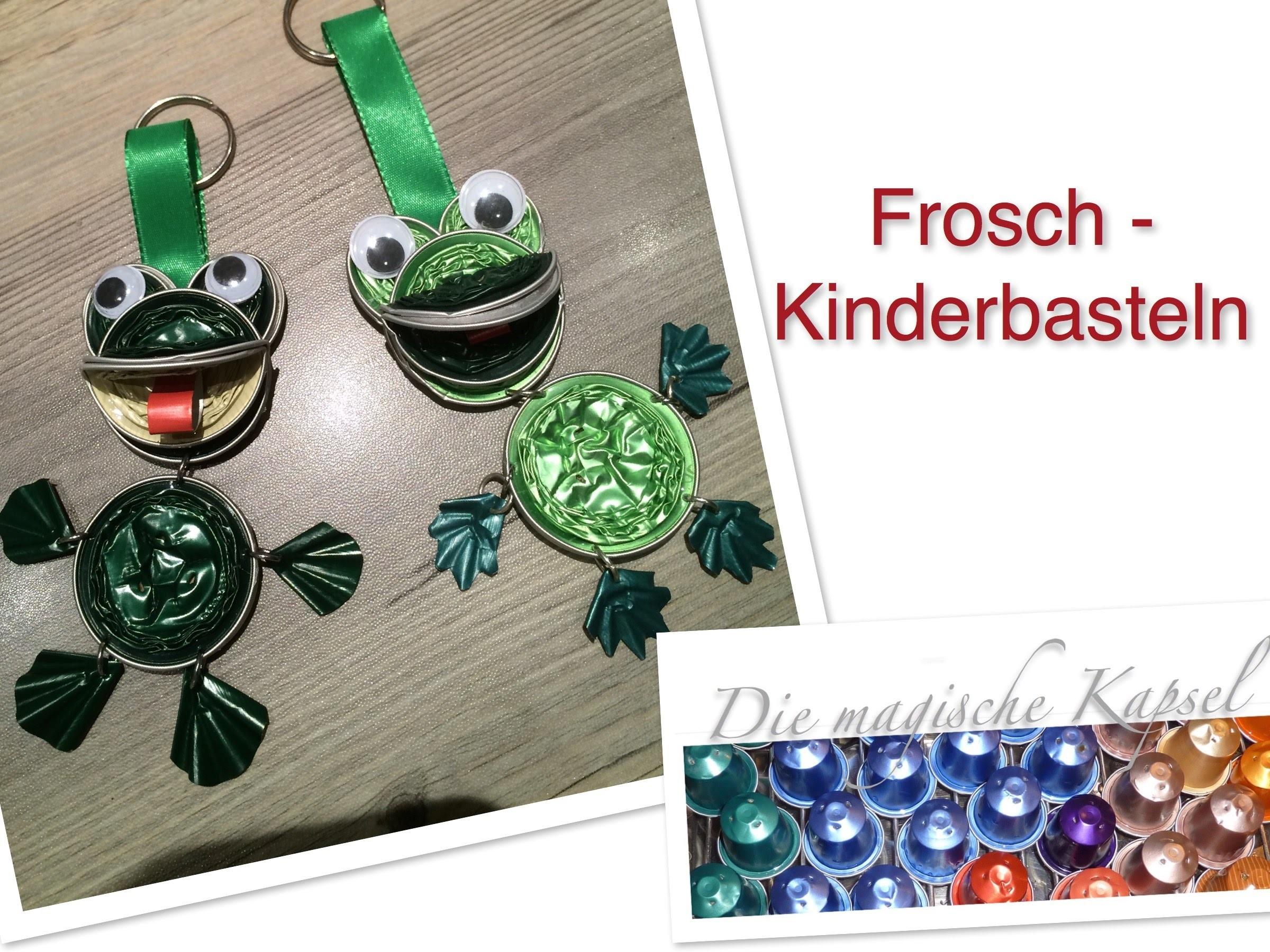 Nespresso Kinder Schmuck Anleitung - DIY - Frosch  - die magische (Kaffee-) Kapsel