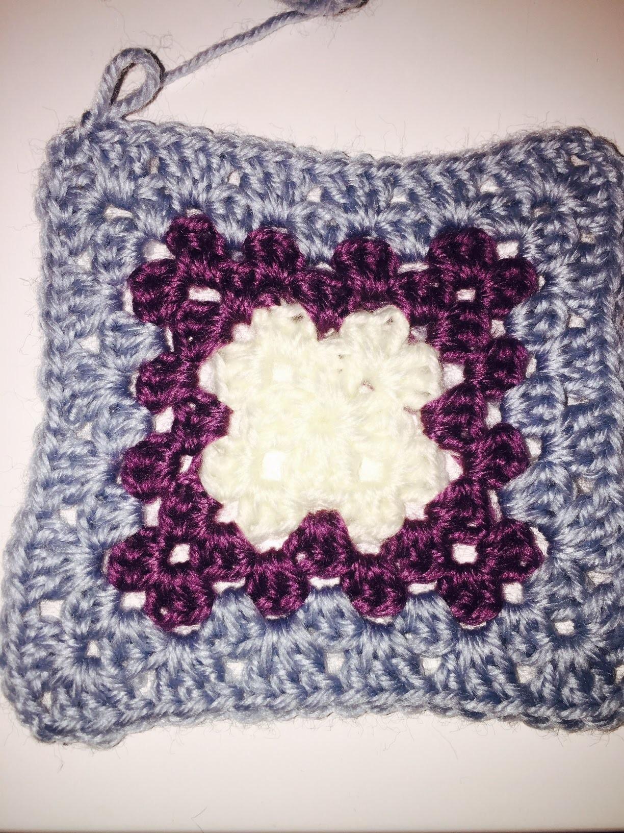 Ihr 59. Quadrat für ihre Patchwork Decke Häkeln Granny Muster einfach