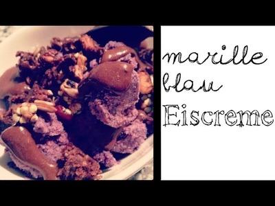 Rohkost Rezept - Eiscreme vegan: Rohtopia's Marille Blau Eiscreme - Blue Apricot Ice Dream