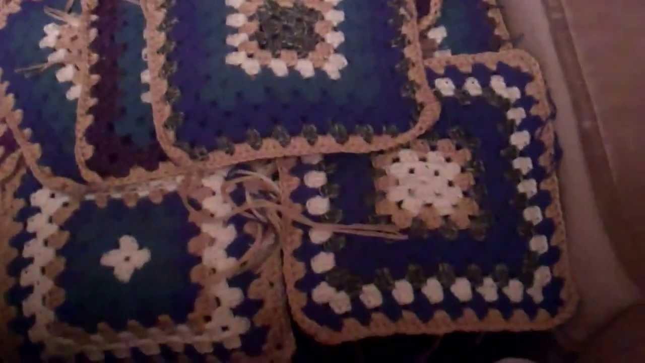 Afghan - große Decke aus Granny Squares - HaekelnundStricken